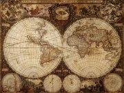 Фотопечать на потолке: Антикварные карты 1
