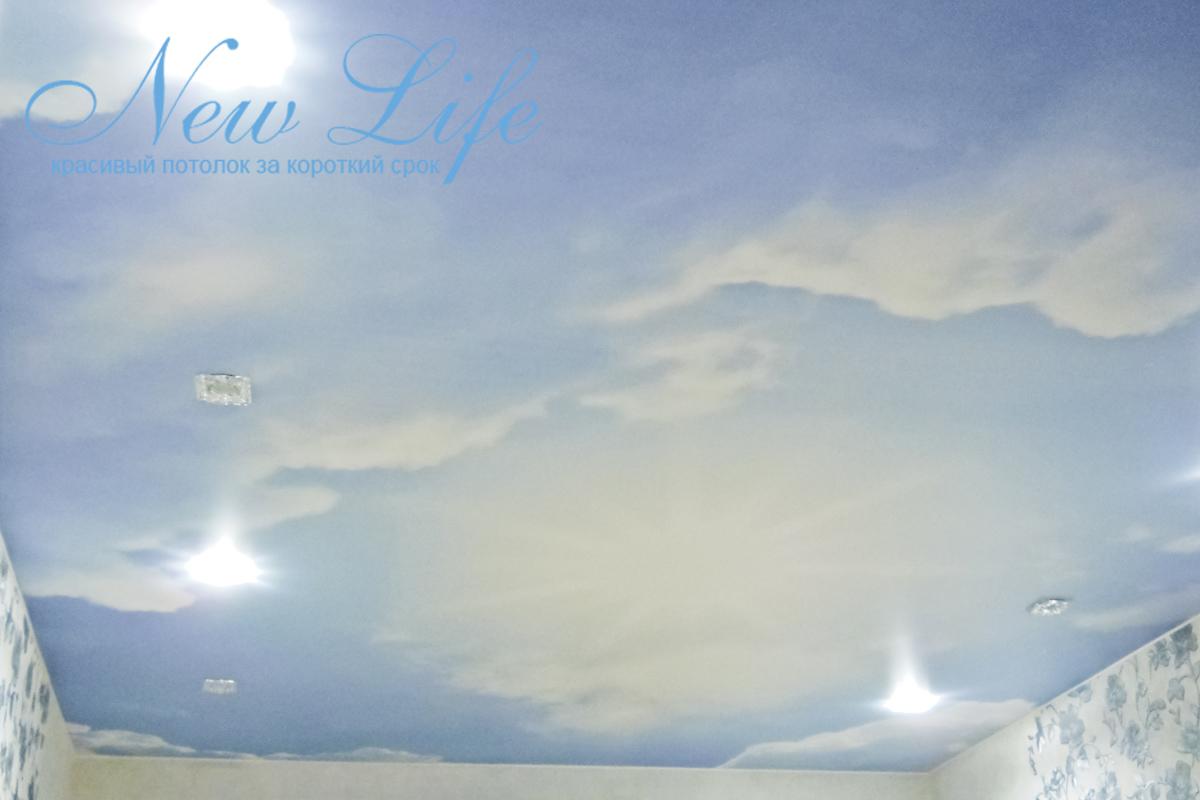 """Потолок с арт-печатью """"Небо"""""""