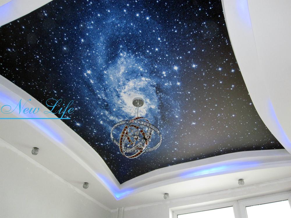 Фотопечать на натяжном потолке - космический полет рис. 24 из каталога Космос