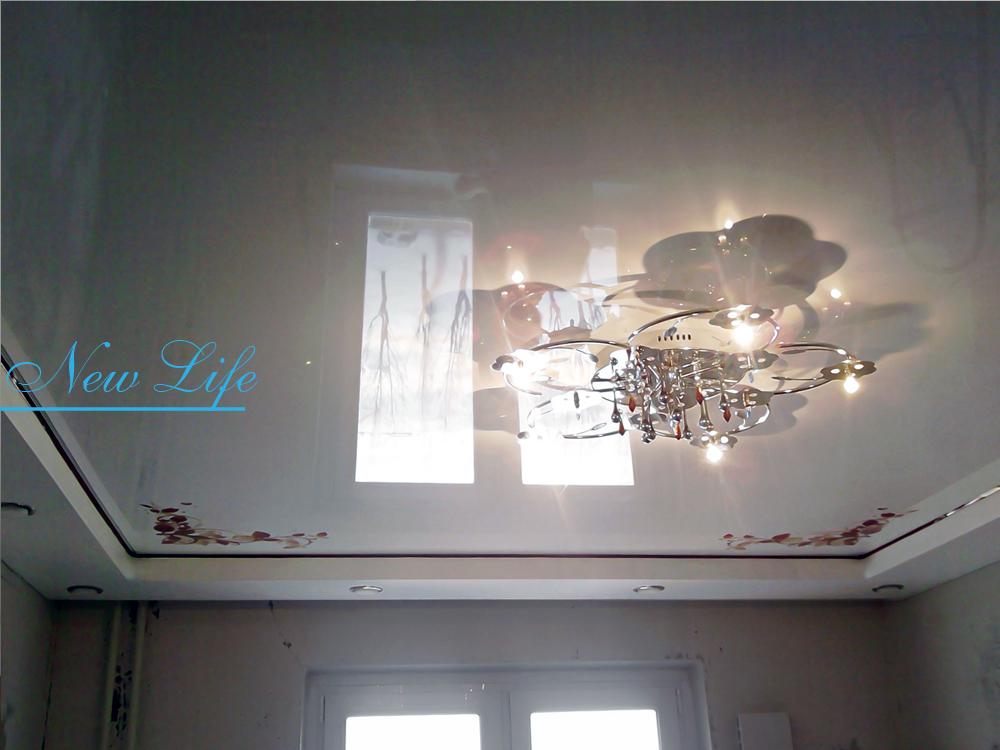 Фотопечать Орнамент на лаковом натяжном потолке