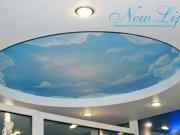 Двухуровневый потолок с арт печатью
