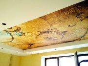 Фотопечать текстура на матовом натяжном потолке в составе двухуровневого потолка рис. 34 из каталога Текстуры
