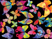 Фотопечать на потолке: Бабочки 21