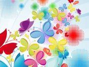 Фотопечать на потолке: Бабочки 22
