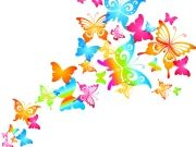 Фотопечать на потолке: Бабочки 29