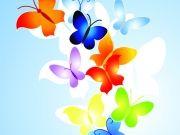 Фотопечать на потолке: Бабочки 33
