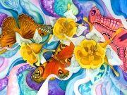 Фотопечать на потолке: Бабочки 4