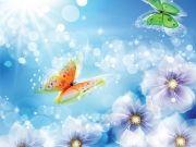 Фотопечать на потолке: Бабочки 42