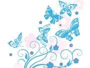 Фотопечать на потолке: Бабочки 54