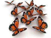 Фотопечать на потолке: Бабочки 8
