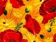 Фотопечать на потолке: Цветы 107
