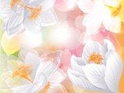 Фотопечать на потолке: Цветы 95