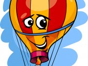 hot air balloon cartoon illustration
