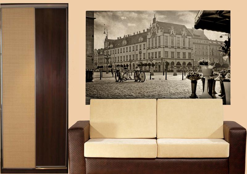 Фотообои город в интерьере гостиной из каталога Городской пейзаж