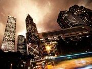 Фотопечать на потолке: Город 1