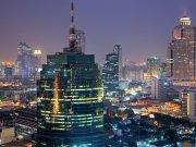 Фотопечать на потолке: Город 12