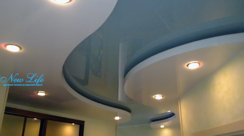 натяжные потолки фото с гипсокартоном