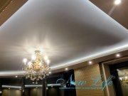 двухуровневая конструкция потолка с LED подсветкой
