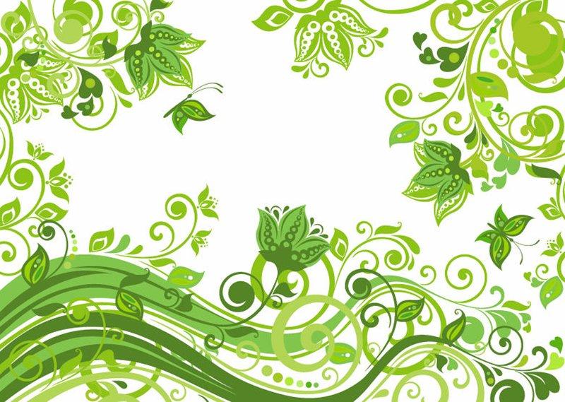 Зелёные узоры для фотошопа