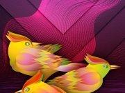 Фотопечать на потолке: Птицы 26