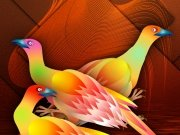 Фотопечать на потолке: Птицы 35