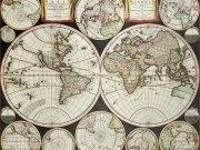 Фотообои на стену: Старинные карты 06