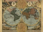Фотопечать на потолке: Антикварные карты 11