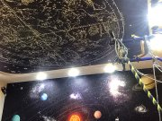 Арт печать Космос на матовом потолке