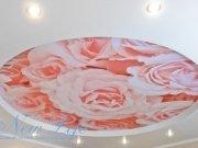 Арт печать в двухуровневом потолке
