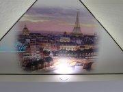 Фотопечать Париж на матовом натяжном потолке в гостиной (фрагмент потолка)