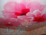 Арт печать на лаковой фактуре натяжного потолка Цветы