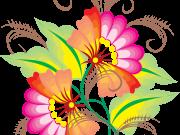 Фотопечать на потолке: Цветы 136
