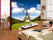 Фотообои Париж в интерьере гостиной из каталога Городской пейзаж