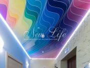 Натяжной потолок с подсветкой и арт-печатью