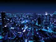 Фотопечать на потолке: Город 21