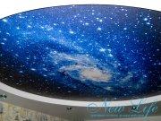 Потолок с арт печатью и освещением Звёздное небо