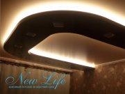 Двухуровневый потолок с LED-подстветкой