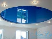 двухуровневый лаковый потолок