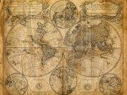 Фотообои на стену: Старинные карты 01