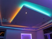 Светодиодная подсветка (LED) многоуровневого натяжного потолка, несколько цветов